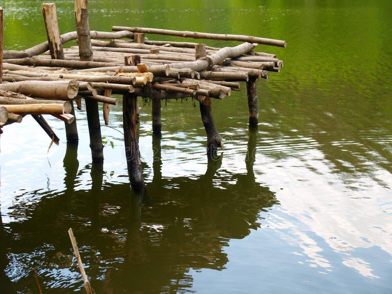 木老的码头 免版税库存图片