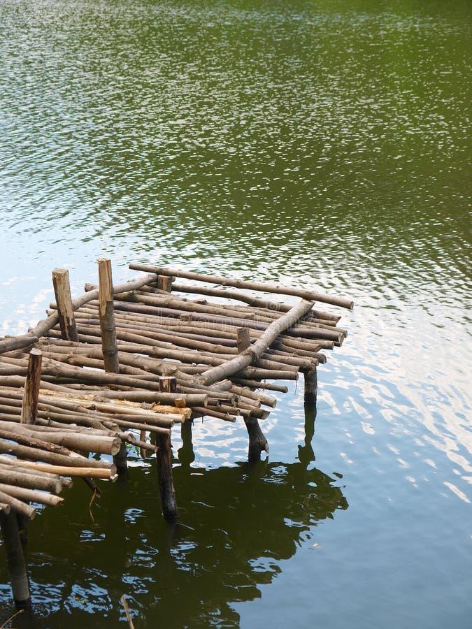 木老的码头 免版税图库摄影