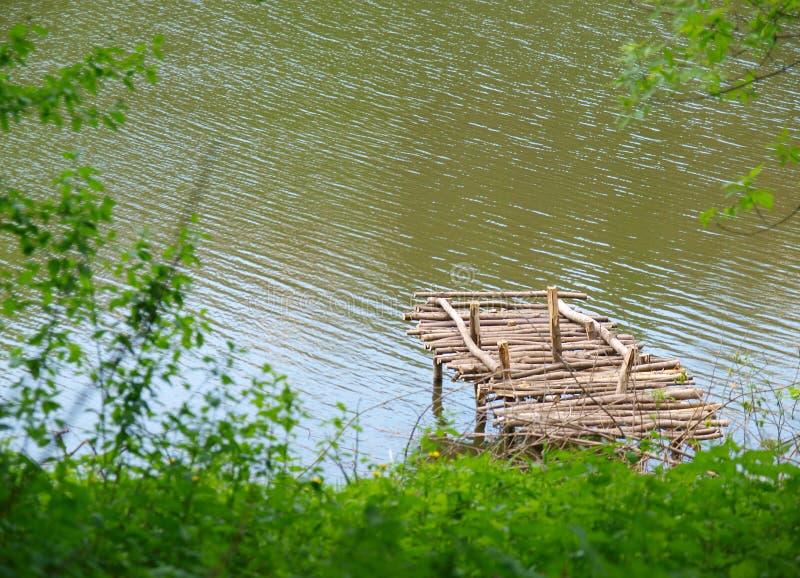 木老的码头 免版税库存照片