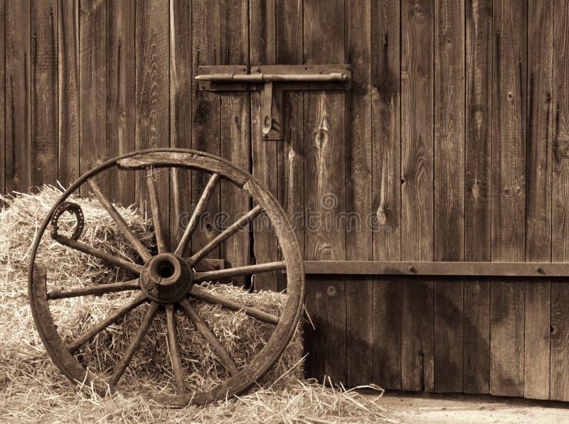 木老的轮子 免版税库存图片