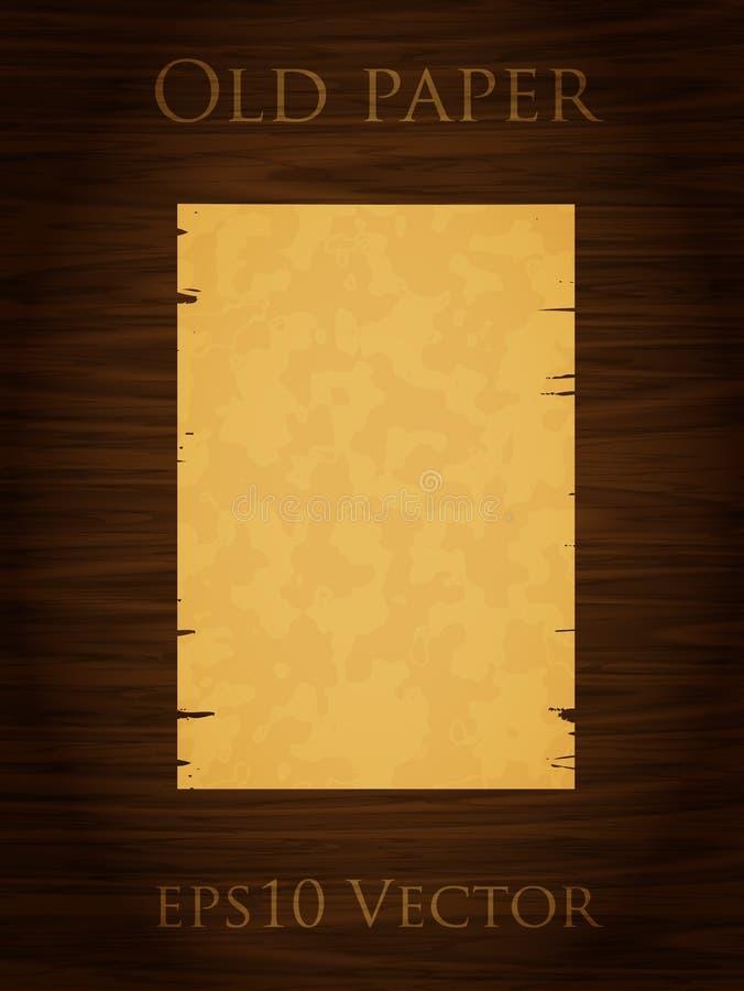 木老纸的墙壁 皇族释放例证
