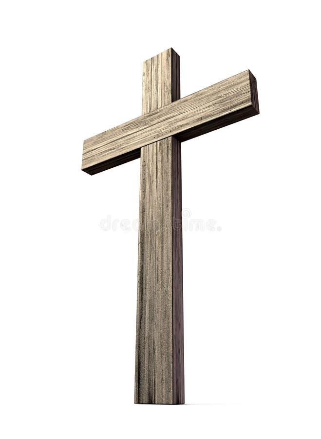 木耶稣受难象 免版税库存照片