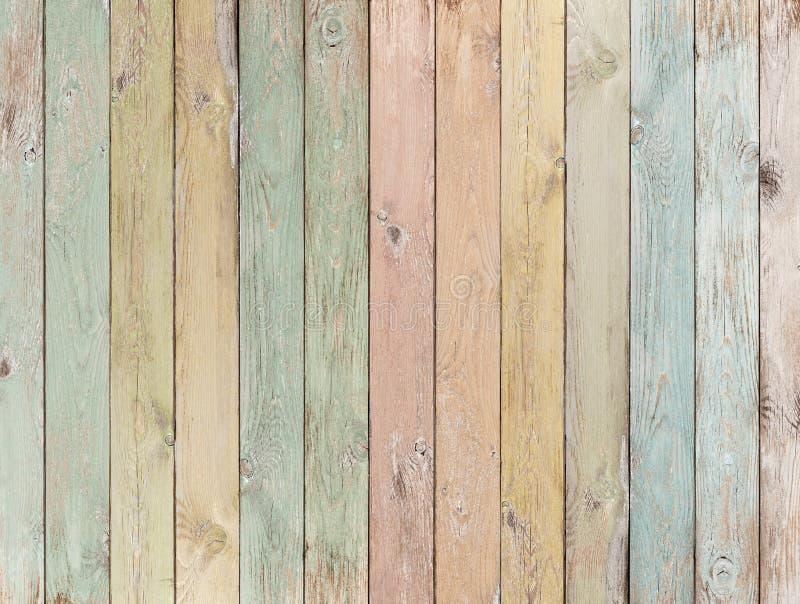 木背景或纹理与色的板条柔和的淡色彩 免版税库存图片