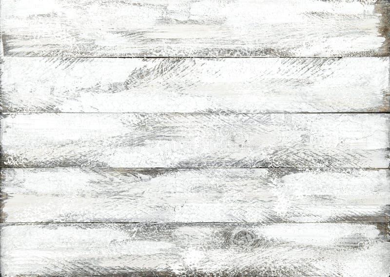 木背景白色色的板条木头样式 免版税库存照片