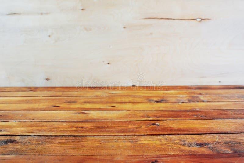 木背景的模板 桌面 它是空的 免版税图库摄影