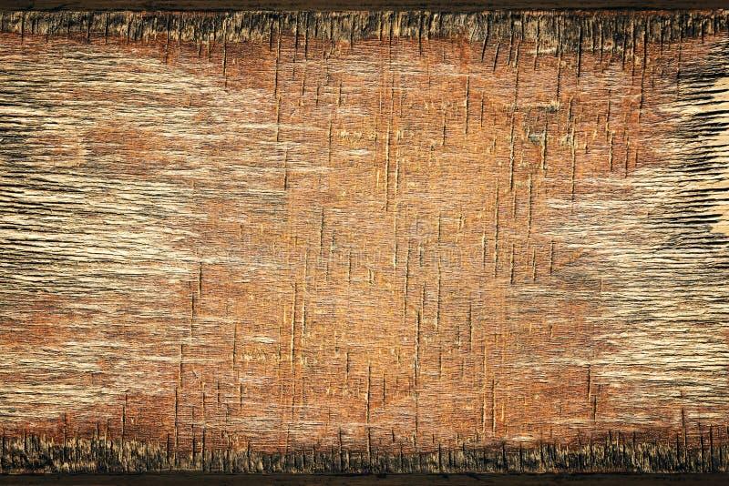 木背景,老年迈的木五谷纹理被风化的胶合板 免版税库存图片