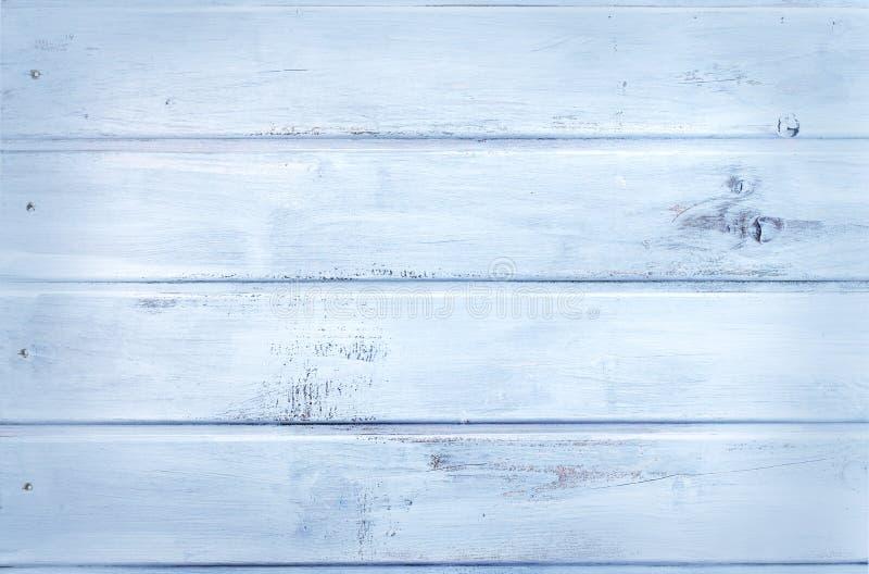 木背景-浅兰-木纹理 图库摄影