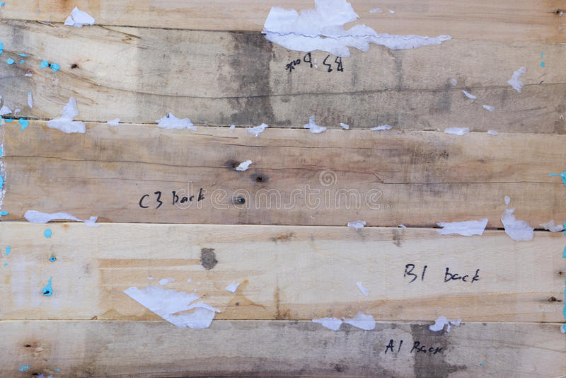 木背景 纹理、老委员会的表面从自然木头的与词和数字 皇族释放例证