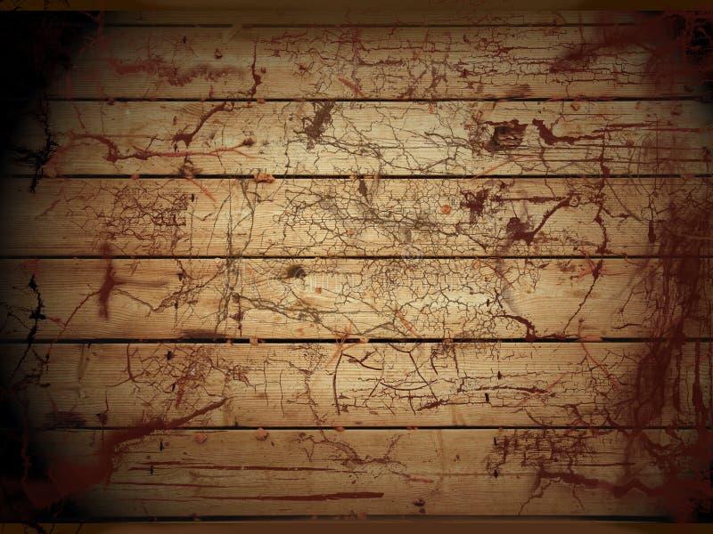 木腐朽的楼层 库存例证