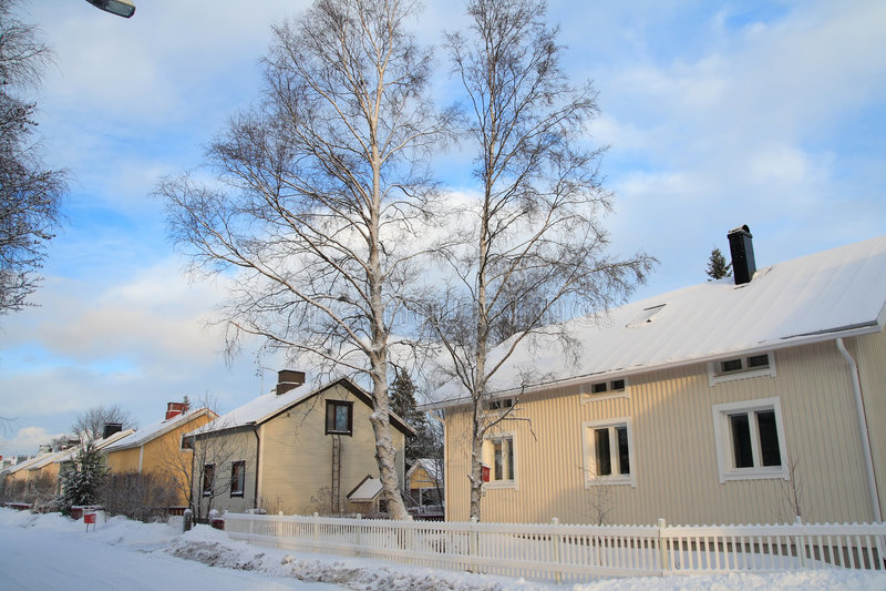 木芬兰的房子 库存图片