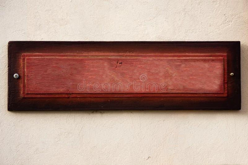 木董事会老的墙壁 库存照片