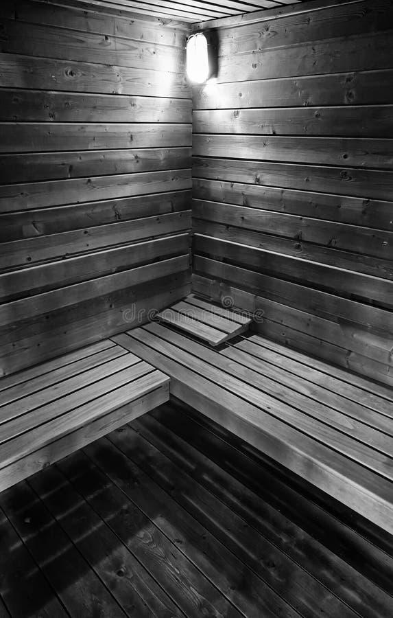 木蒸汽浴 图库摄影