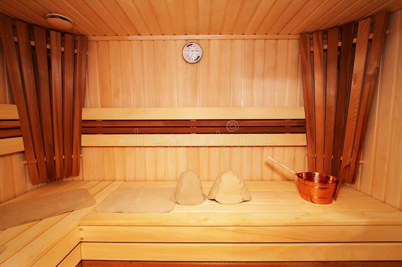 木蒸汽浴 库存图片
