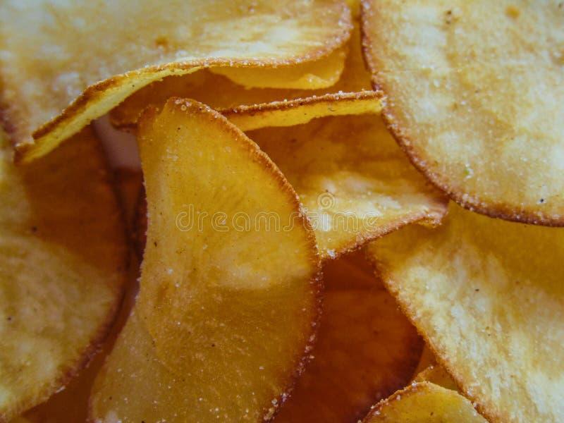 木薯芯片 免版税库存照片