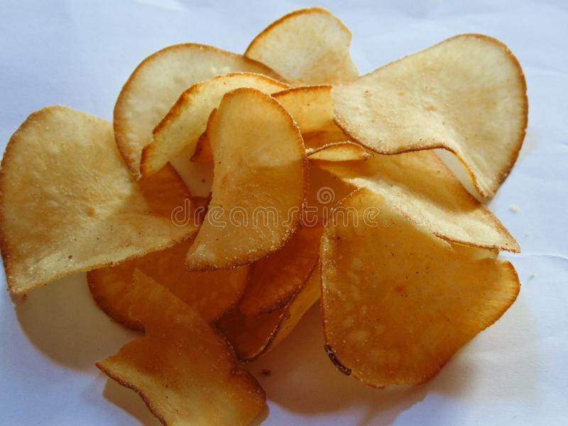 木薯芯片 库存照片