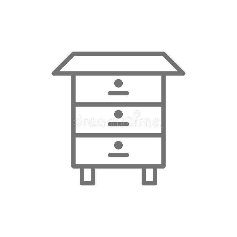 木蜂蜂房,蜂蜜蜂箱线象 向量例证