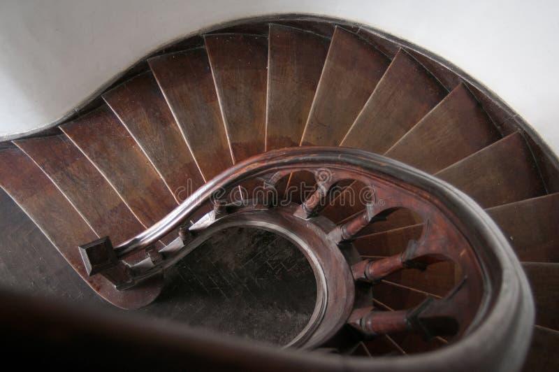 木螺旋的台阶 免版税库存照片