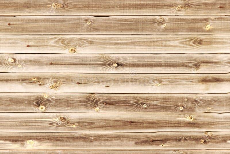 木衬里上墙壁 棕色轻的纹理木头 背景老盘区,无缝的样式 水平的板条 库存照片