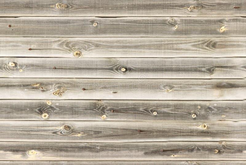木衬里上墙壁 浅褐色的橡木纹理 背景老盘区,无缝的样式 水平的板条 免版税库存照片