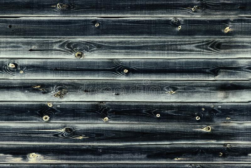木衬里上墙壁 深蓝或鲜绿色virid木头纹理 背景老盘区,无缝的样式 水平的板条 库存图片