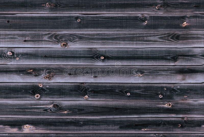 木衬里上墙壁 深蓝紫罗兰色木纹理 背景老盘区,无缝的样式 水平的板条 库存图片