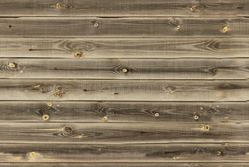 木衬里上墙壁 midtone棕色木纹理 背景老盘区,无缝的样式 水平的板条 免版税库存图片