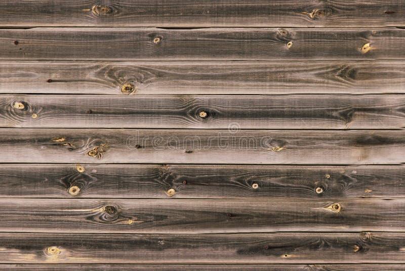 木衬里上墙壁 midtone棕色木纹理 背景老盘区,无缝的样式 水平的板条 图库摄影