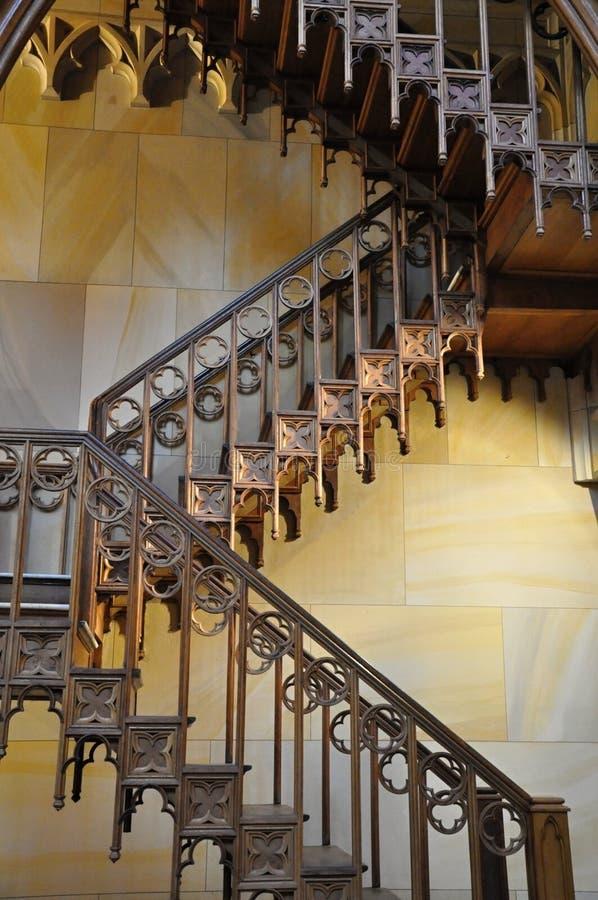 木装饰的台阶 免版税库存照片