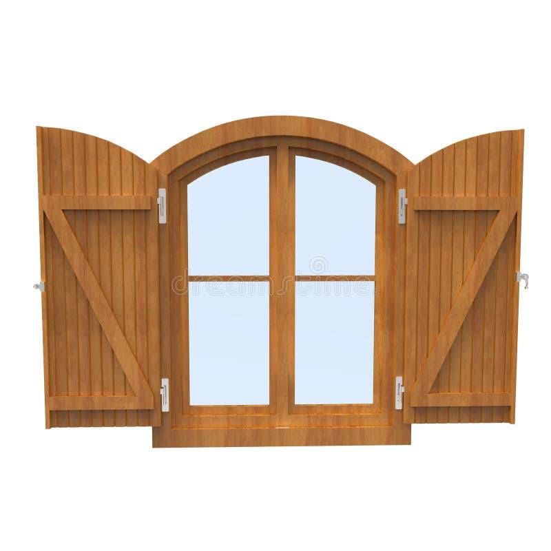 木视窗 免版税图库摄影