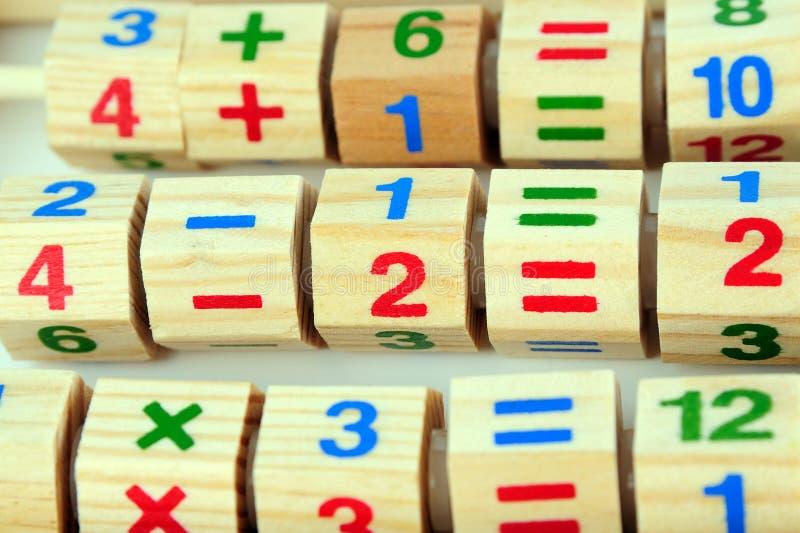 木计算器的玩具 免版税库存照片