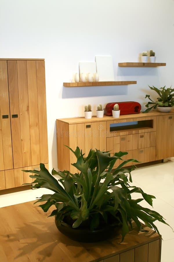 木设计的家具 库存图片