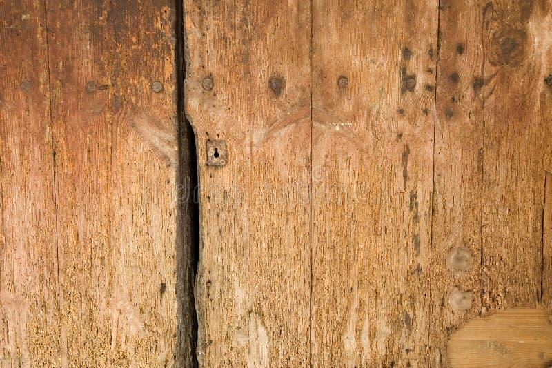 木详细资料的门 库存图片
