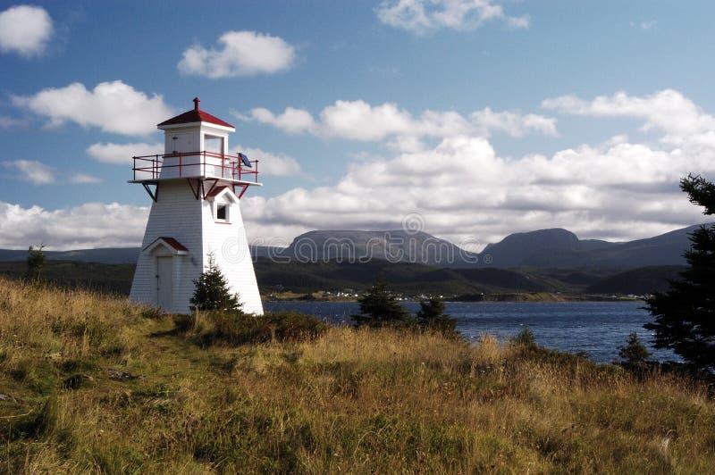 木质灯塔的点 免版税库存图片