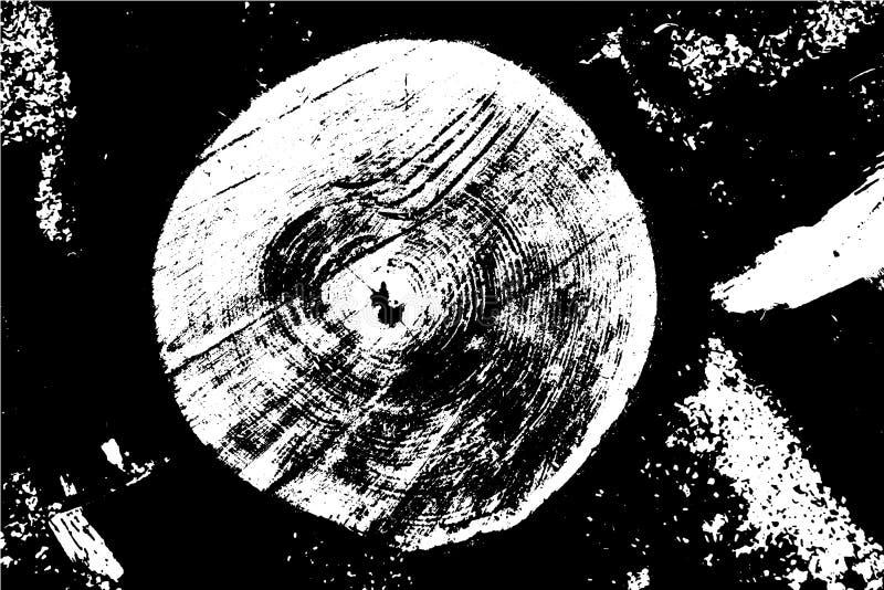 木质,由树的剖面照片创建 矢量抽象背景 向量例证