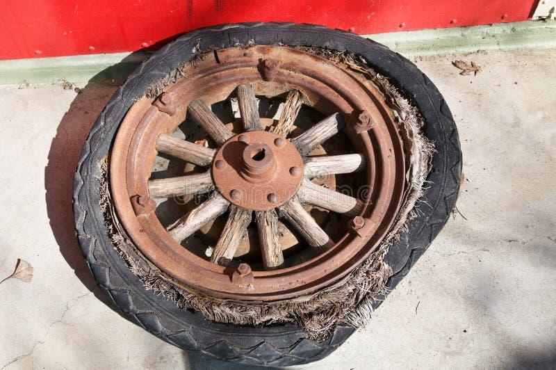 木轮幅的轮子 库存照片