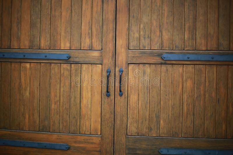 木酿酒厂门 库存图片