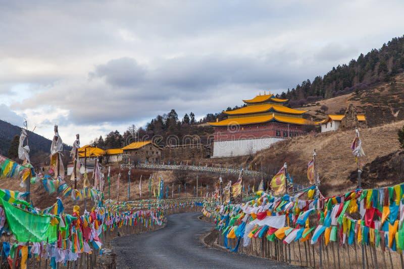 木里Kangwu寺庙在从中国的四川 免版税库存图片