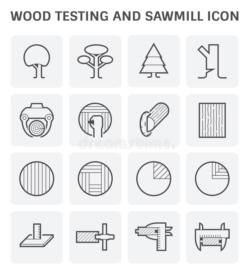 木锯木厂象 向量例证