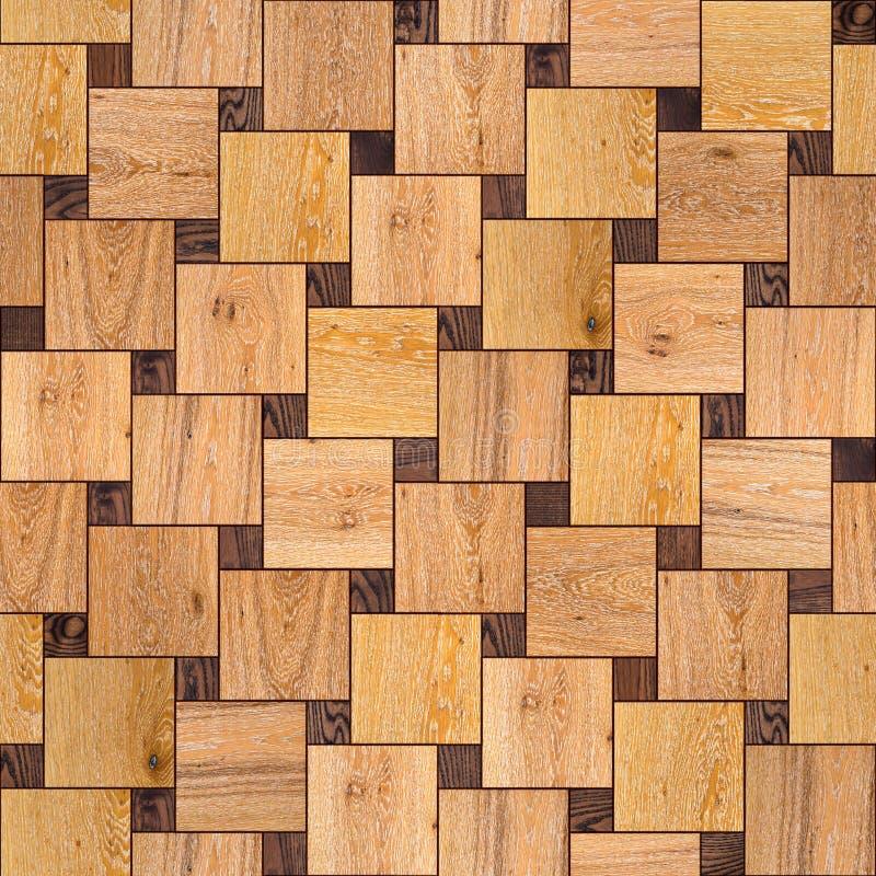 木镶花地板。无缝的纹理。 免版税库存图片