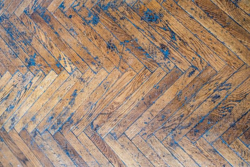 木镶花地板背景纹理 免版税图库摄影
