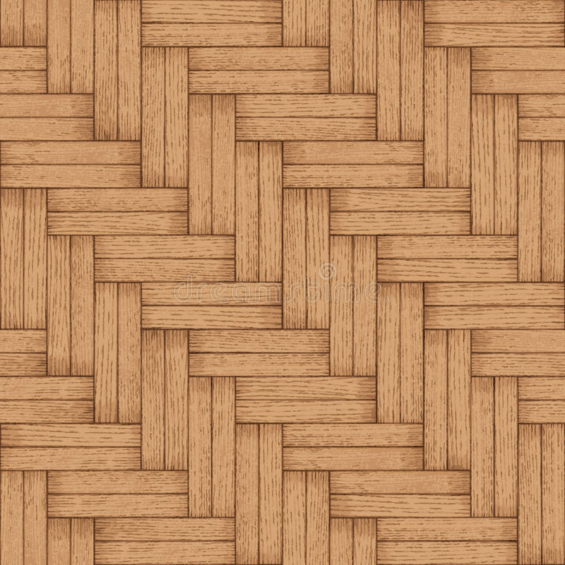 木镶花地板-向量无缝的纹理 向量例证