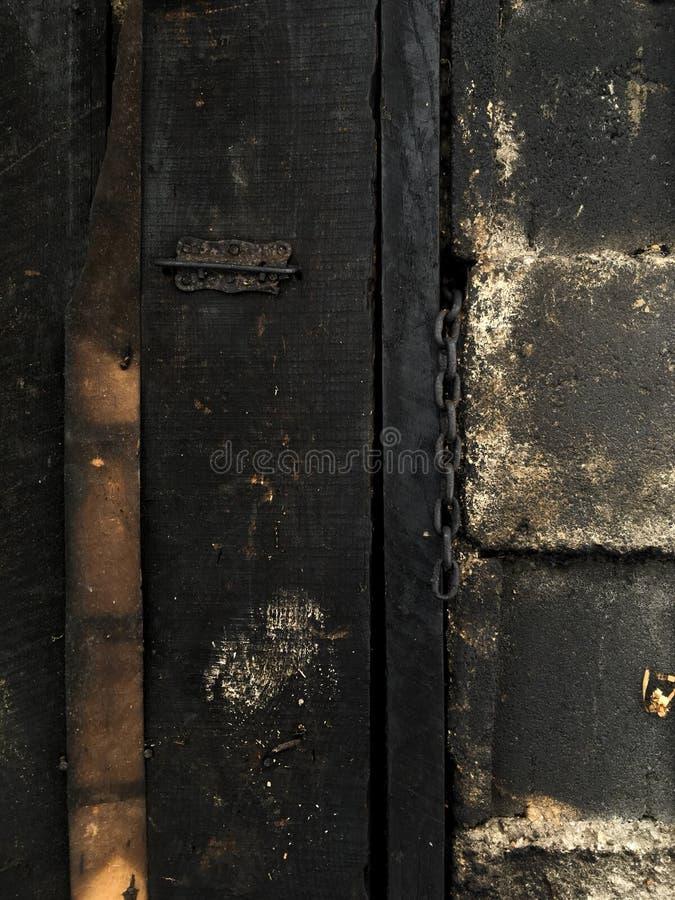 木门和钢 库存照片
