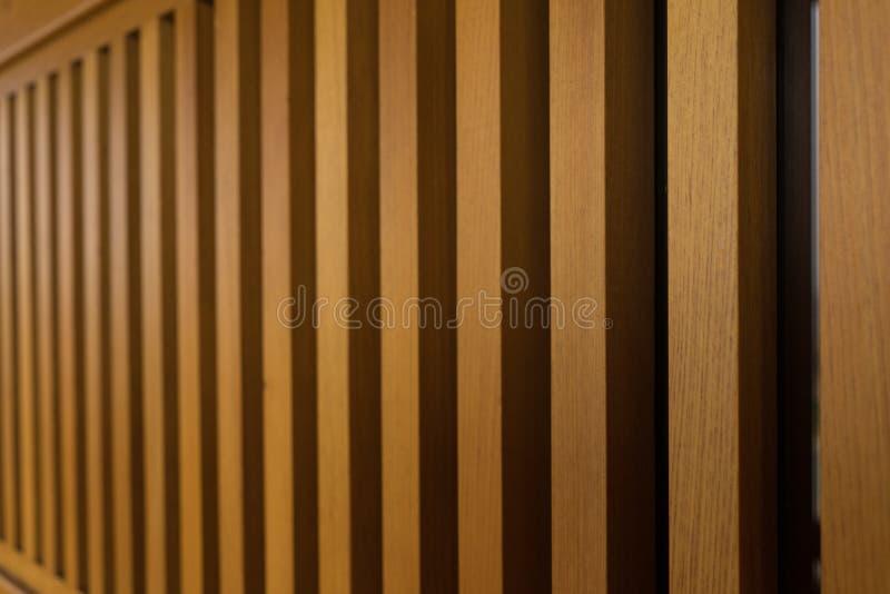 木阳台篱芭 库存图片