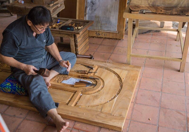 木雕家 免版税库存图片