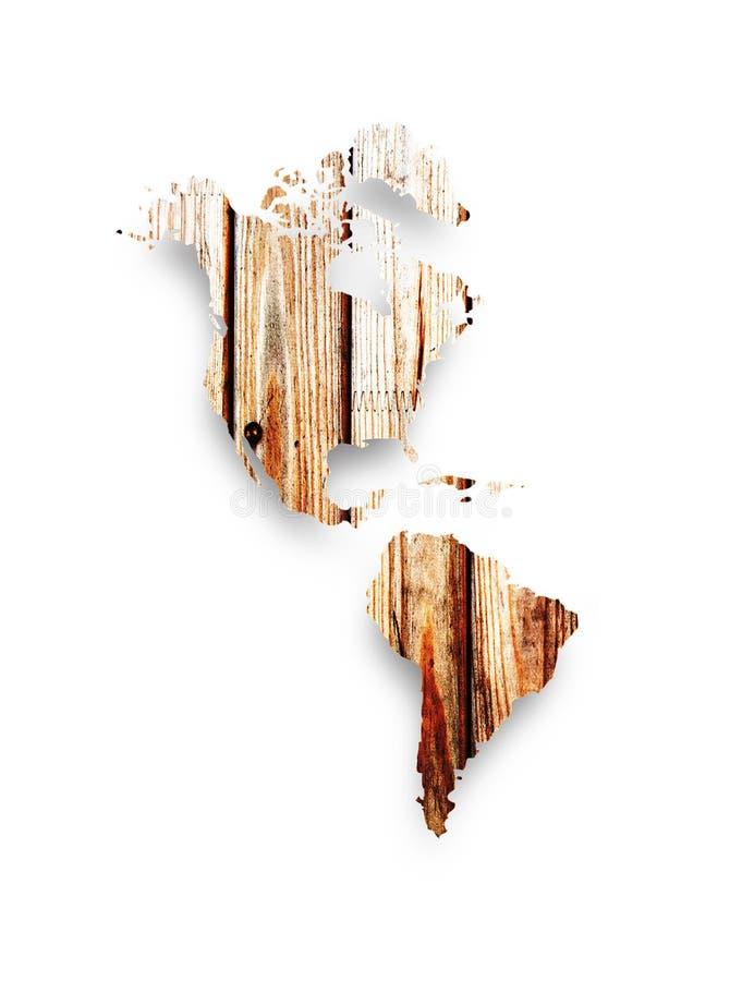 木非洲的映射 免版税库存照片