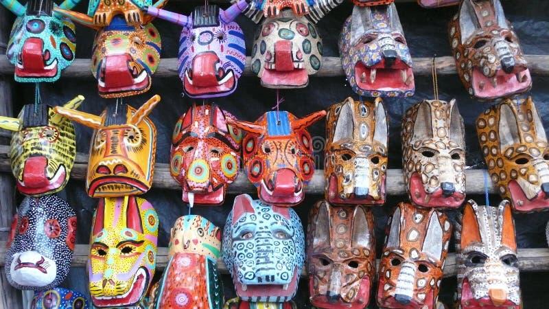 木面具。危地马拉 库存照片