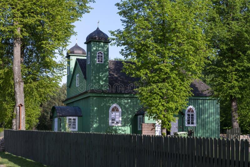 木鞑靼人的清真寺在Kruszyniany,波兰 免版税库存照片