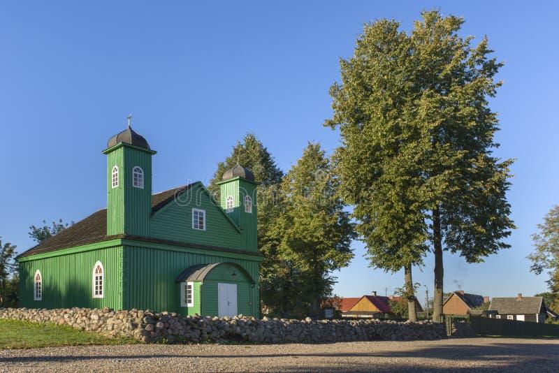 木鞑靼人的清真寺在Kruszyniany,波兰 库存照片