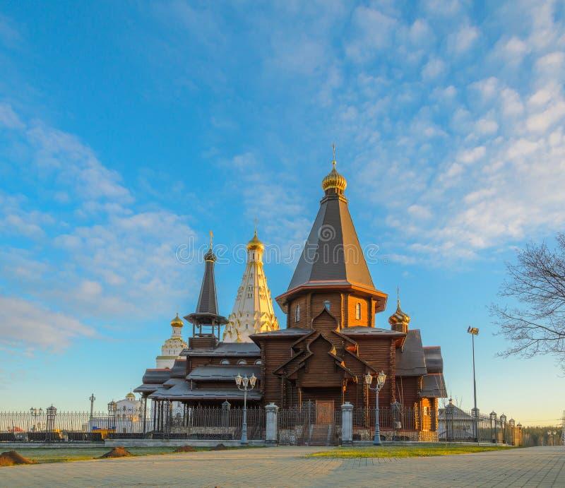 木领港教会在米斯克 免版税库存图片