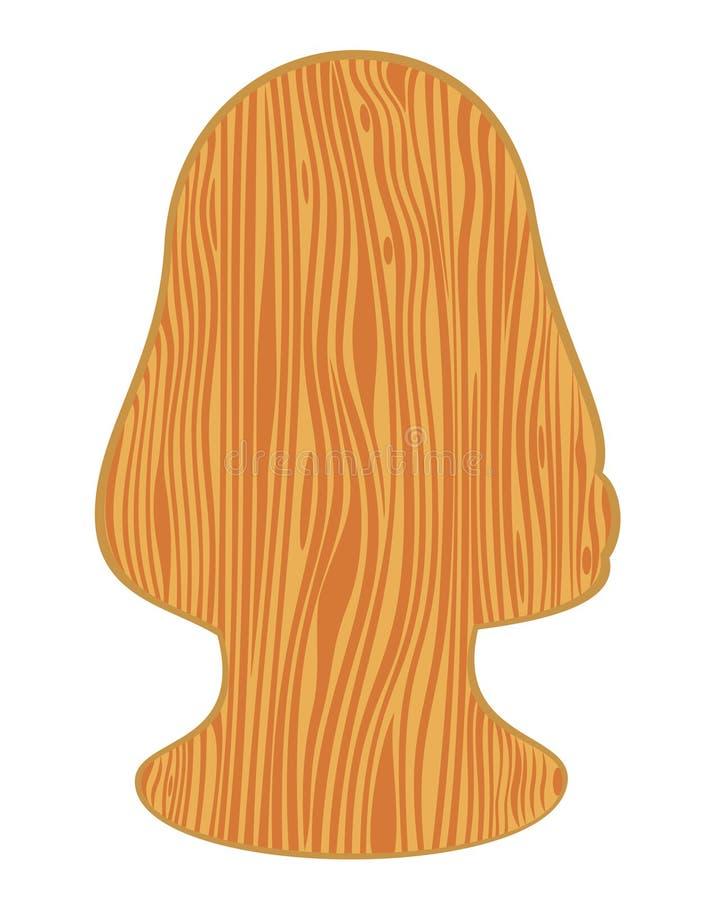 木风格化纹理的结构树 皇族释放例证